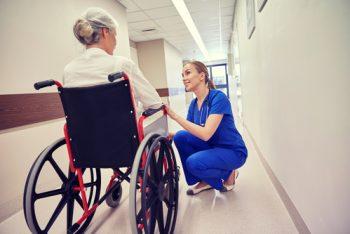adult gerontology nurse practitioner with patient